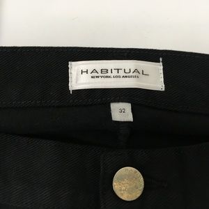 Habitual Jeans - NWT Habitual Distressed Jeans Dark Wash Wide Leg